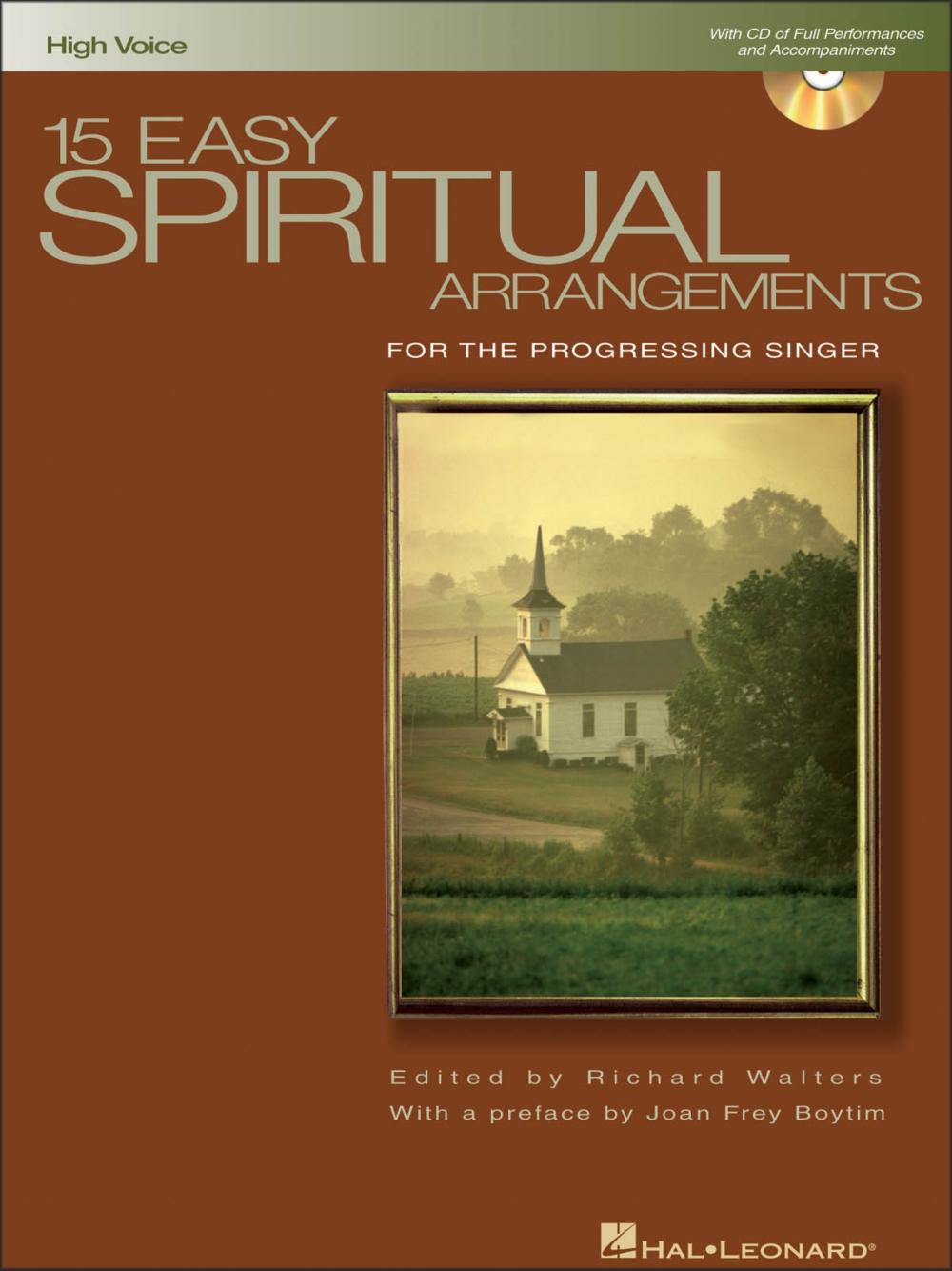 Hal Leonard 15 Easy Spiritual Arrangements for High Voice Book CD by