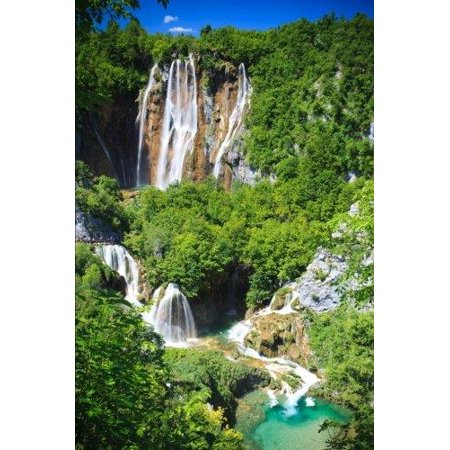 Plitvice National Park Waterfalls in Croatia Journal: 150 Page Lined Notebook/Diary
