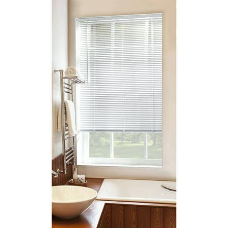 mainstays cordless 1 vinyl room darkening blinds white multiple sizes. Black Bedroom Furniture Sets. Home Design Ideas