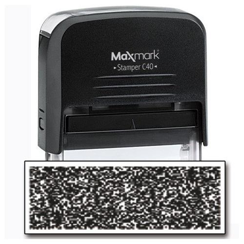 MaxMark Identity Theft Protection Stamp - Large Size with 2 Pads