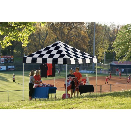 10' x 10' Sport Pop-up Canopy Slant Leg Checker Flag Cover