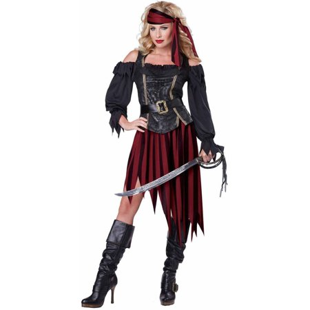 Pirate Queen Of The High Seas Women's Adult Halloween Costume (The Queen Of Hearts Halloween Makeup)
