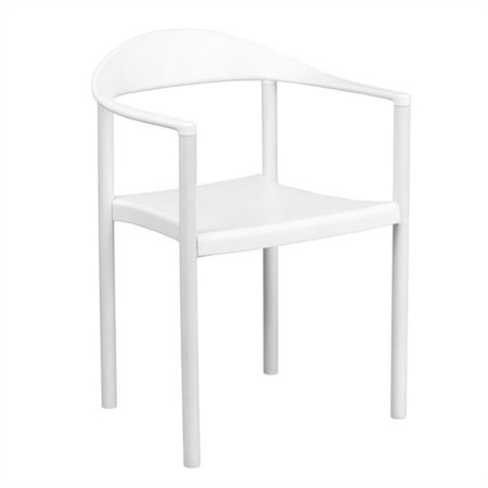 Bowery Hill Plastic Cafe Stack Stacking Chair in