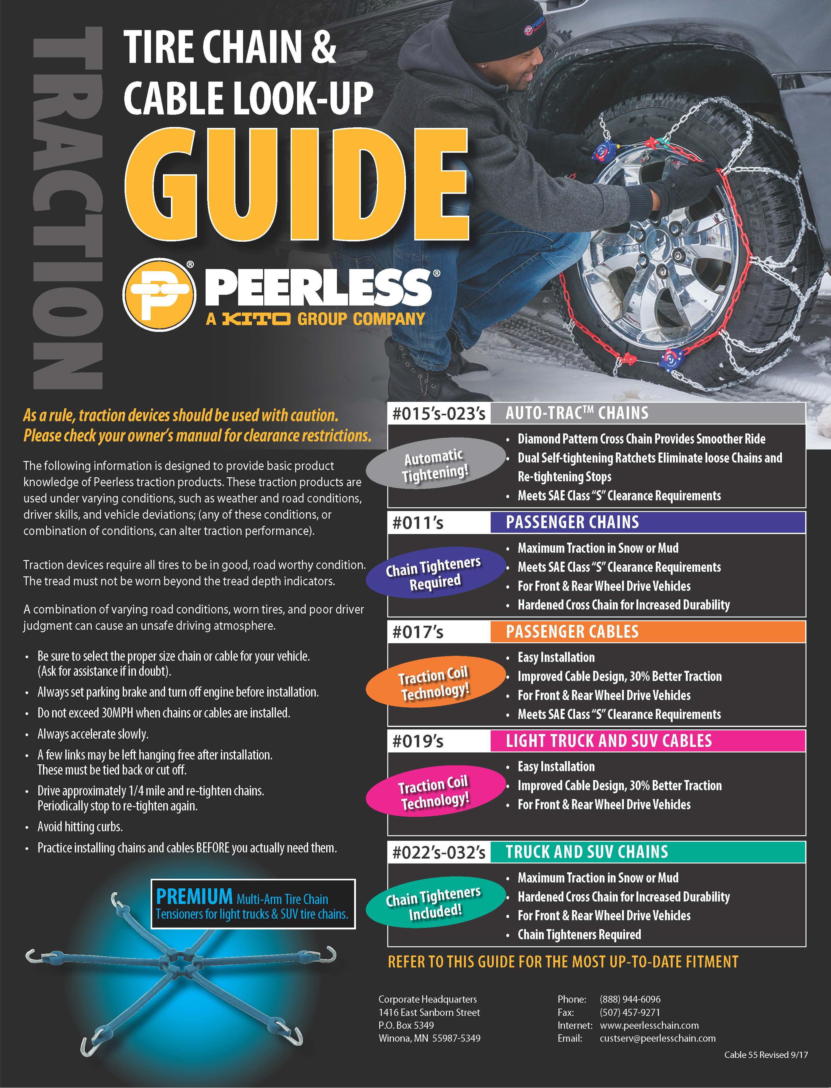 Peerless Chain Passenger Tire Chains 0114210 Walmart Com Walmart Com