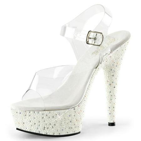 SummitFashions - Womens White Wedding Shoes Platform Sandals ...