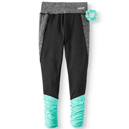 Color-Block Full-Length Active Legging With Scrunchie (Big (Scrunchie Tank)