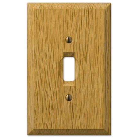 AmerTac 4025T Traditional Light Oak Wood Wall plate ()