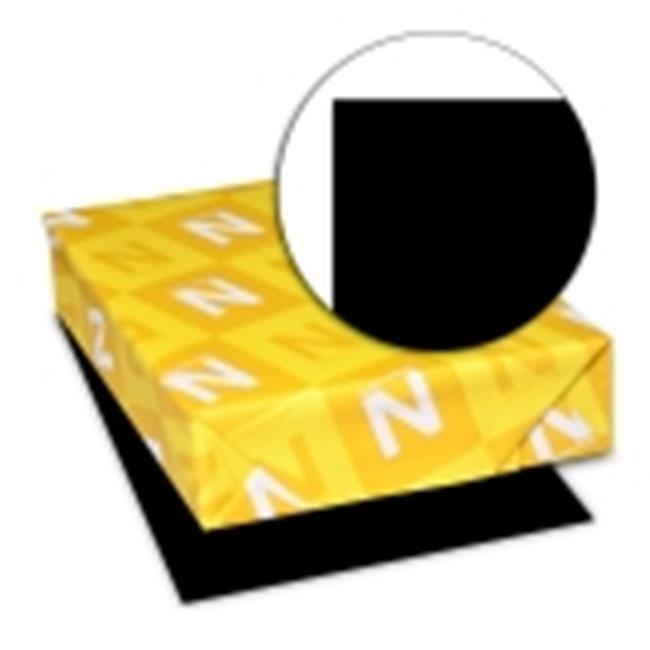 Astrobrights 8.5 x 11 in. Paper Acid-Free Premium Card Stock - Black, Pack 100