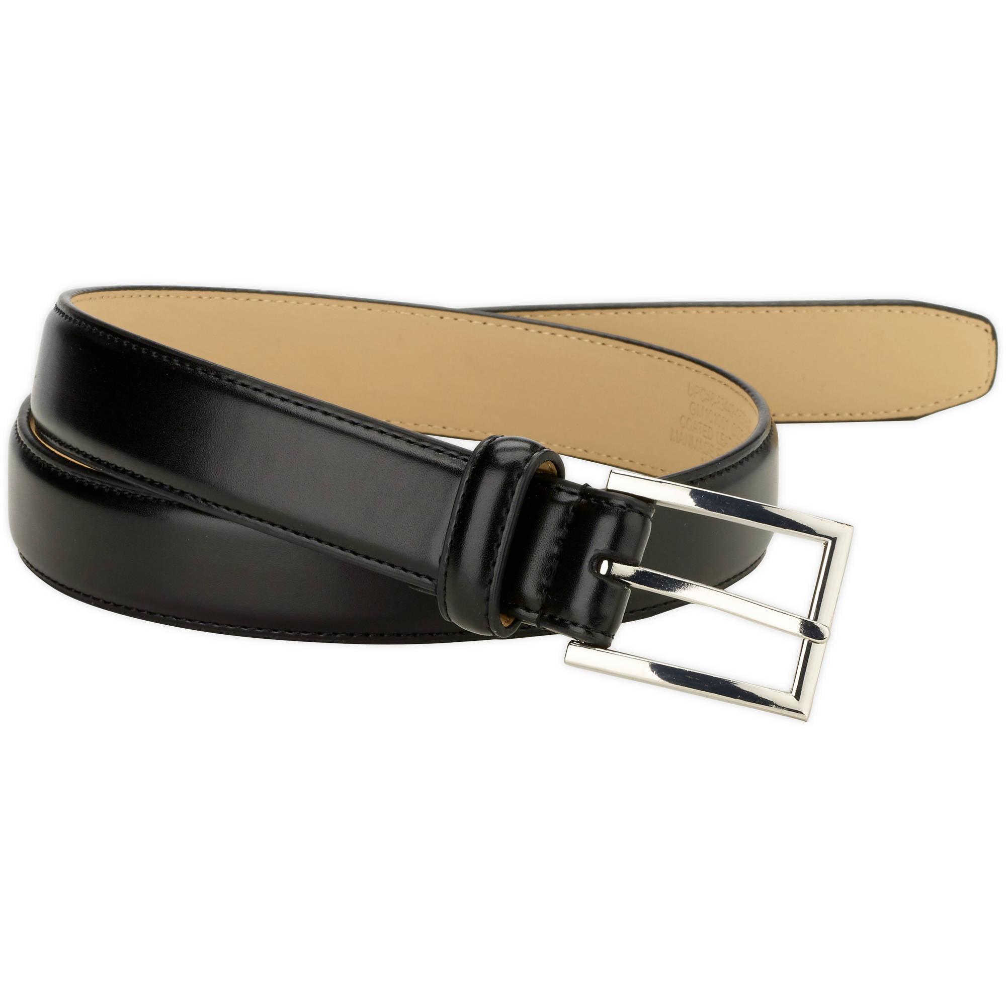 George Men's 30mm Feather Edge Stitched Dress Belt