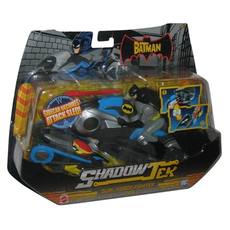 DC Batman Riding ShadowTek Dual Force Fighter Vehicle Mattel Toy w/ Figure
