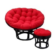 Button Tufted Single Papasan Cushion (Jaquard Cheneel Antiquity, 46 in.)