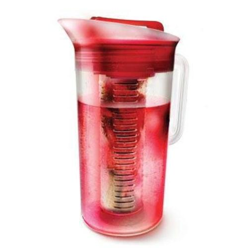 Primula 3-in-1 Drink Maker - Red - 3 Quart Pitcher, Lid, Infuser - Stainless Steel Infuser, Plastic, Silicone Grip (psire-5030)