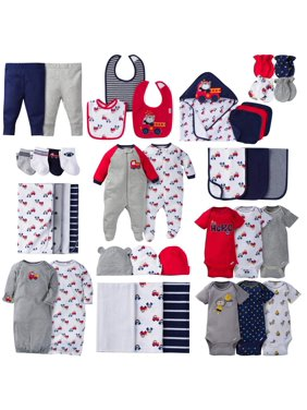 760e1115e535e1 Gerber Baby Shower Layette Set, Burp, and Bath Bundle, 40pc (Baby Boys