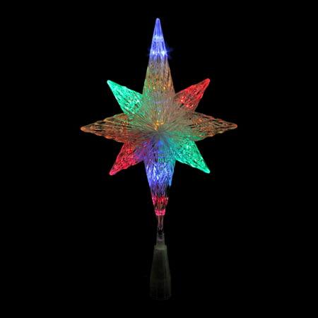 11  Led Lighted Crystal Bethlehem Star Christmas Tree Topper   Multi Lights
