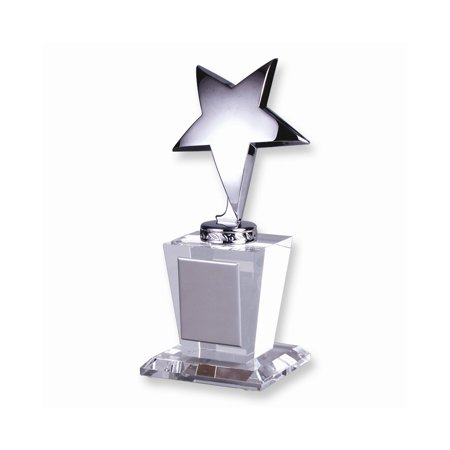 Optical Crystal Silver Star Glass Trophy Award Fine Jewelry Valentine's Day Gifts Glass Flame Award