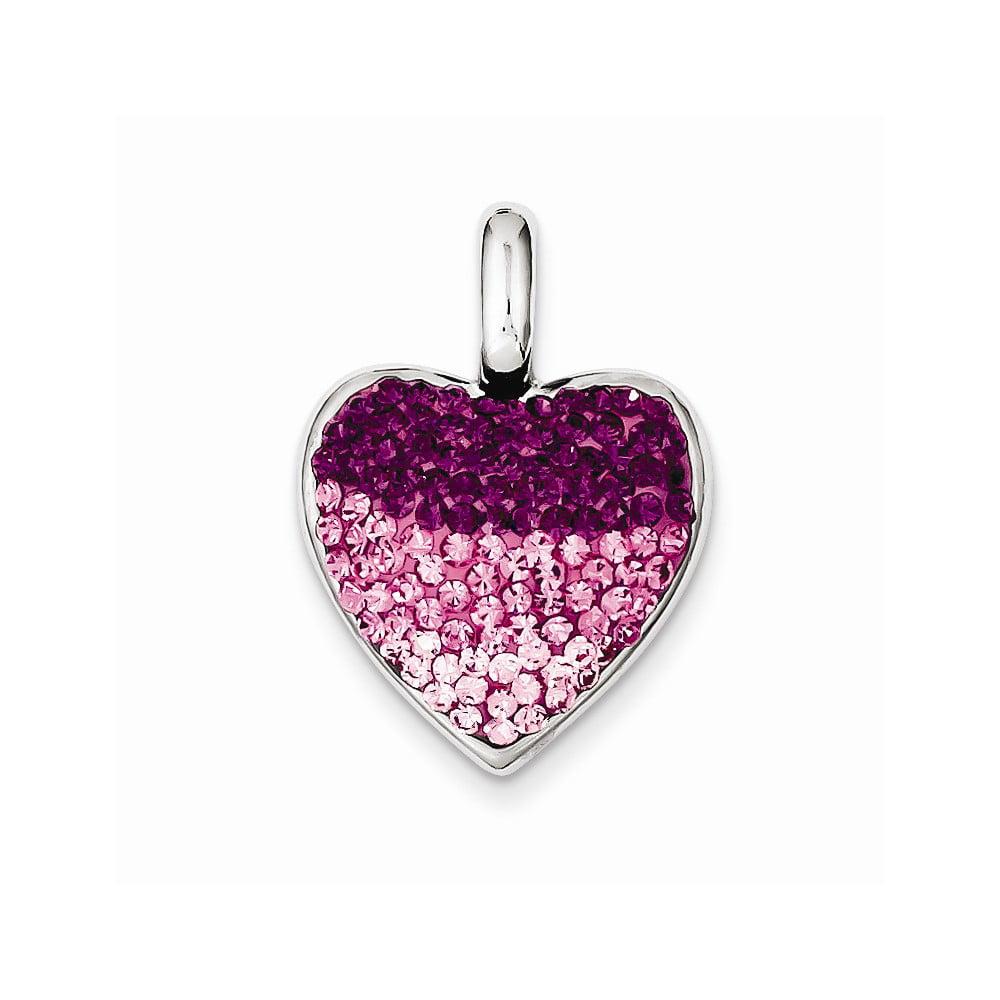 Sterling Silver CZ Ferido Style Heart Pendant.