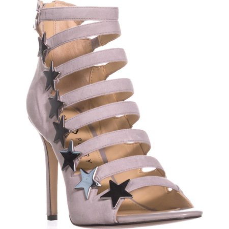 Womens Katy Perry The Stella Star Strappy Heels, Grey, 8.5 US / 38.5 EU