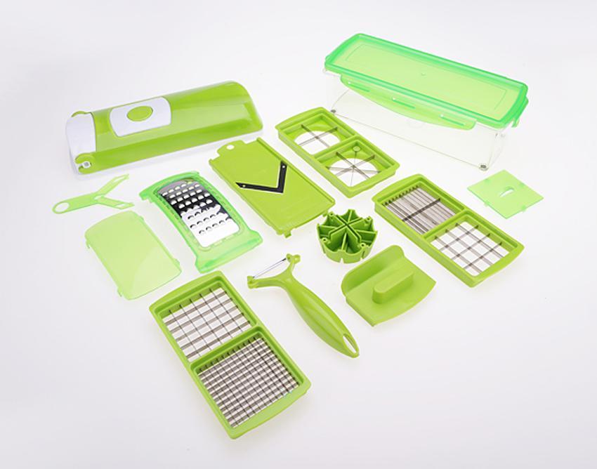 Elecmall Home Kitchen 12 PCS Vegetable Fruit Slicer Peeler Dicer Cutter Chopper Grater... by