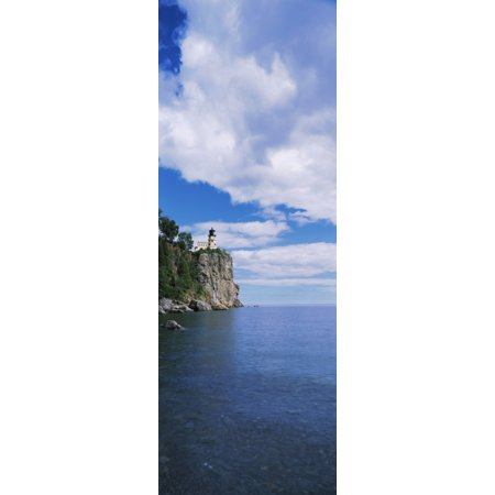 Lighthouse on a cliff Split Rock Lighthouse Lake Superior Minnesota USA Poster Print by Panoramic (Lake Superior Lighthouses)