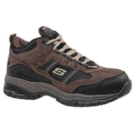 Skechers Size 7 Composite Toe Work Boots, Men's, Brown, D, 77027 -BRBK SZ 7