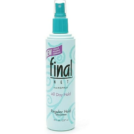 Days Sheet Spray - Final Net All Day Hold Hairspray, Regular Hold, Unscented 8 oz (Pack of 2)