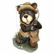 Benzara 15 Inch Polyresin Bear Garden Statue