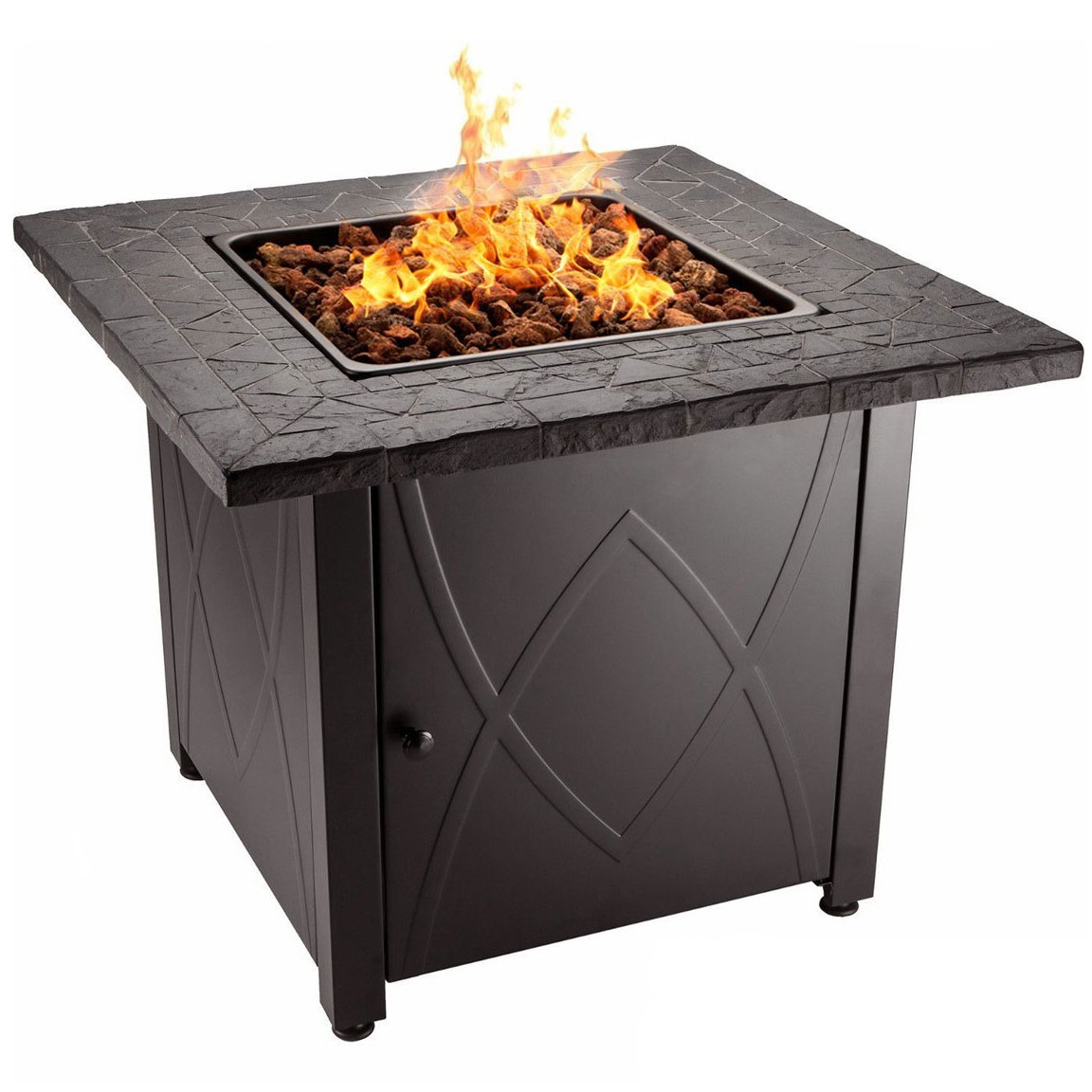 Blue Rhino Endless Summer Outdoor Propane Gas Lava Rock Patio Fireplace Firepit by Firepits