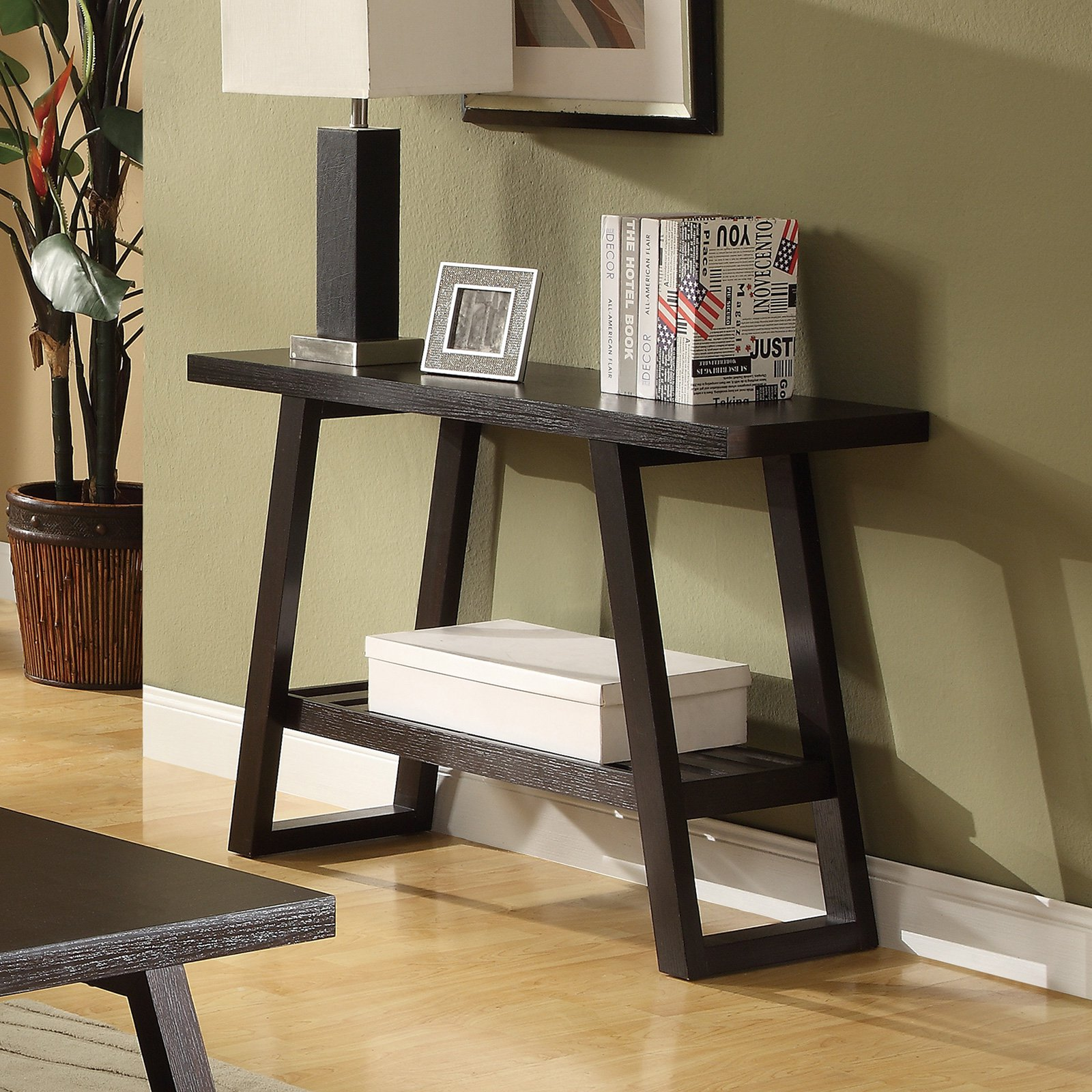 Coaster Furniture Wood Console Table - Cappuccino