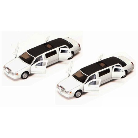1999 Lincoln Town Car Stretch Limousine Diecast Car Set - Box of 6 assorted 1/38 Scale Diecast Model