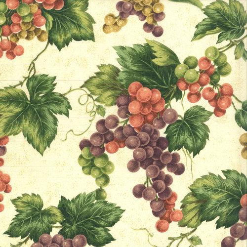 V.I.P by Cranston Vineyard Large Grapevine Fabric, per Yard