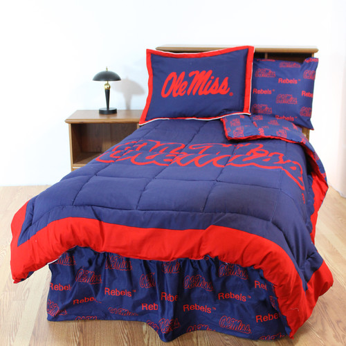 College Covers NCAA Ole Miss Bed in a Bag with Team Colored Sheets Collection