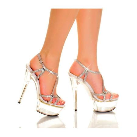Highest Heel GLAMOROUS-51 Silver 6