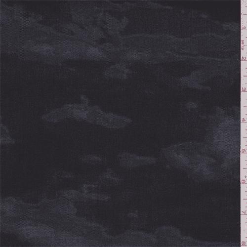 Black/Grey Camo Canvas, Fabric By the Yard