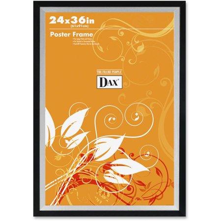 - DAX Metro Series Poster Frame, Plastic, 24 x 36, Black/Silver
