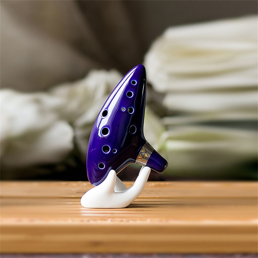 Hotsale 12 Hole Ocarina Instrument Ceramic Alto C Legend Of Zelda Flute Blue Color Musical Instrument Ocarina