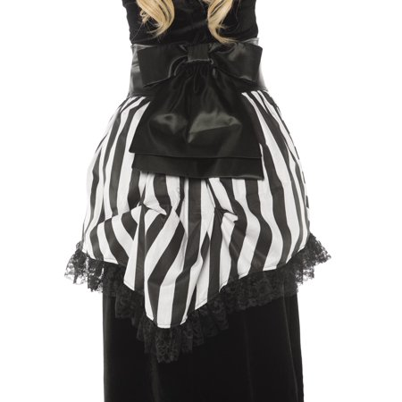 Bustle Womens Adult Black White Striped Victorian Costume Waist Wrap-Os](Black And White Striped Prisoner Costume)