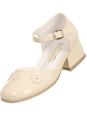 Off white bny corner girls shoes walmart bny corner patent floral formal communion special occasion flower girl dress shoes pump ivory 10 toddler mightylinksfo