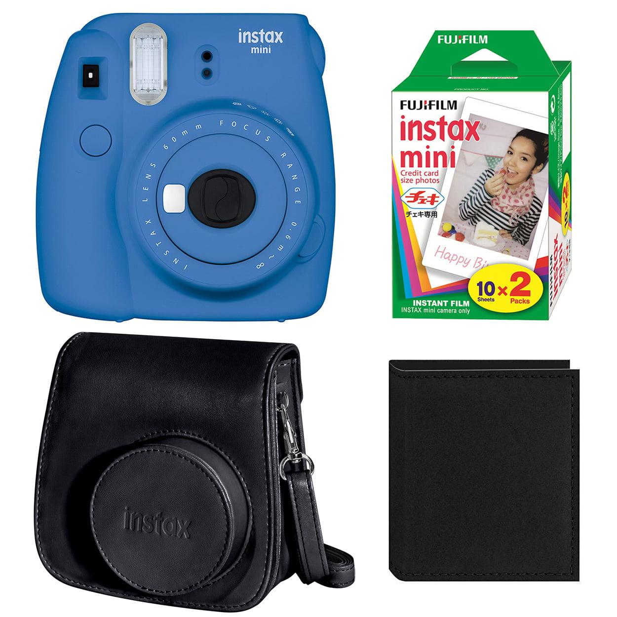 Fujifilm Instax Mini 9 Instant Film Camera (Cobalt Blue) + Film (2-Pack) + Accessory Bundle