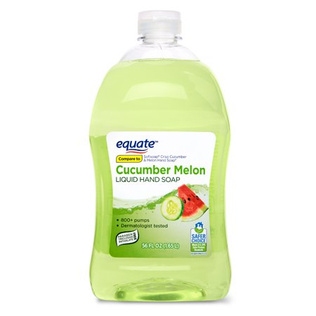 (2 pack) Equate Liquid Hand Soap, Cucumber Melon, 56 Oz