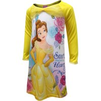 Disney Beauty And The Beast Belle Nightgown for Little Girls, Bright Yellow, Size: 6