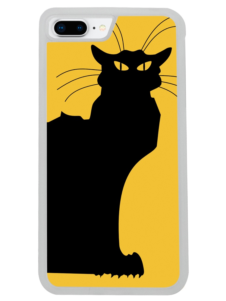 Image Of Le Cat Noir The Black Cat On Yellow Background Apple Iphone 8 Plus Frosted Clear Phone Case Walmart Com Walmart Com