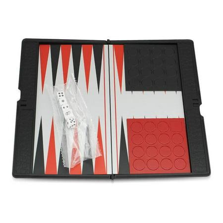 Mini Board Magnetic Backgammon Small Pocket Travel Classic Foldable Game Set KT00125 CBM50