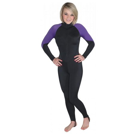 Storm Black/Purple Lycra Dive Skin for Scuba Diving, Snorkeling and Water Sports