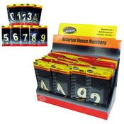 Sterling Brass House Number Assortment Countertop Display