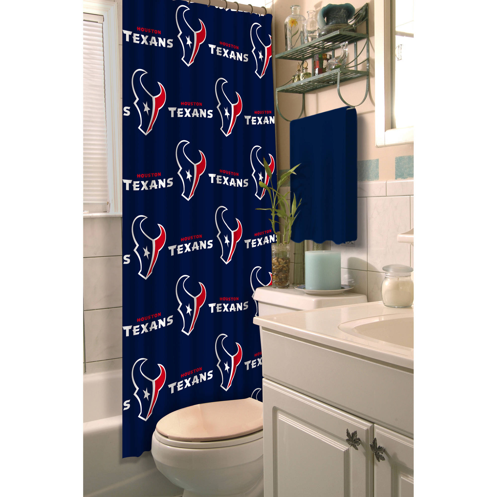 NFL Houston Texans Decorative Bath Collection Shower Curtain