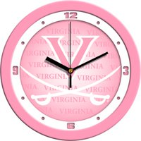 Suntime ST-CO3-VAC-PWCLOCK Virginia Cavaliers-Pink Wall Clock