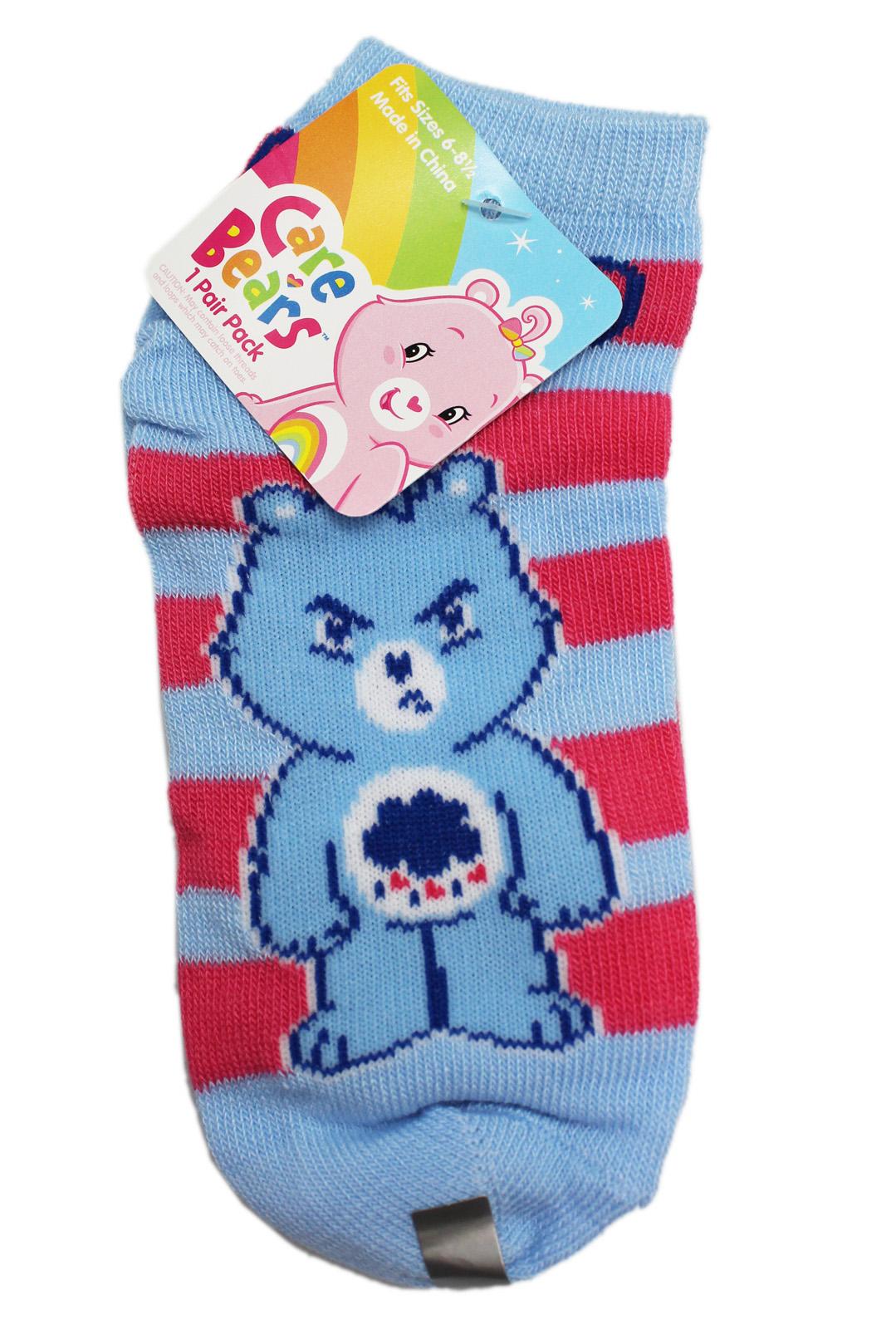 1 Pair, Size 6-8 Strawberry Shortcake Green Striped White Kids Socks