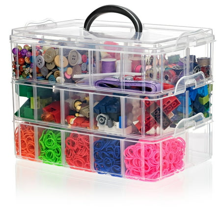 Arts Crafts Bin for Hobby Toy Storage Shopkins Beads Jewelry Legos Multi Purpose