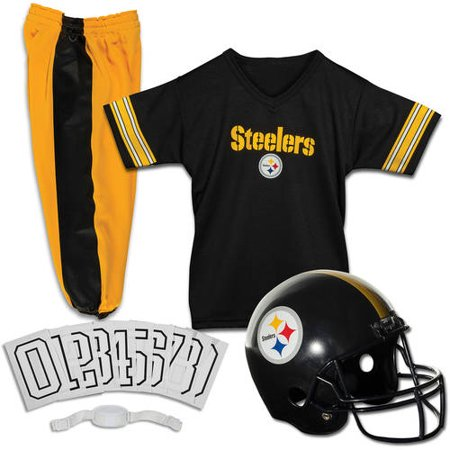 Franklin Sports NFL Pittsburgh Steelers Youth Licensed Deluxe Uniform Set, (Sports Uniform)