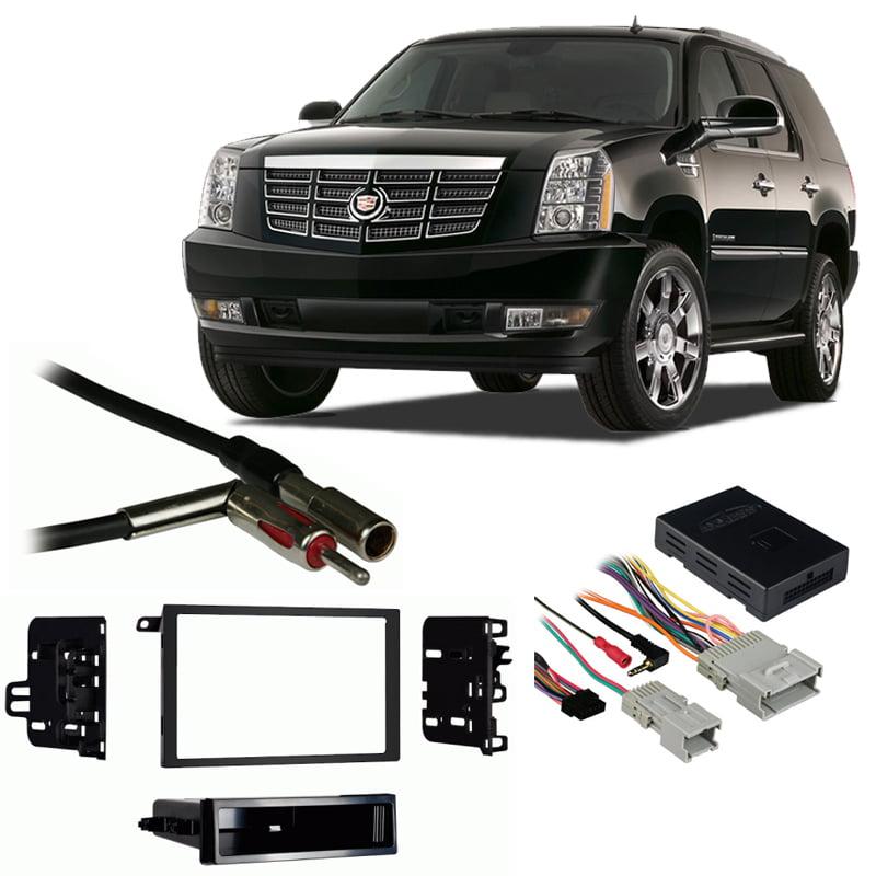 [WQZT_9871]  Fits Cadillac Escalade 03-06 Double DIN Stereo Harness Radio Install Dash  Kit - Walmart.com - Walmart.com   Cadillac Escalade Radio Wiring Harness      Walmart